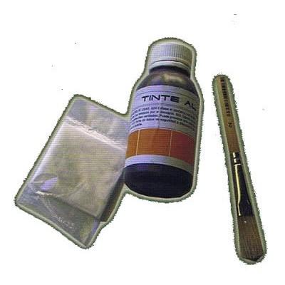 Tinte para retoque en vigas de poliuretano