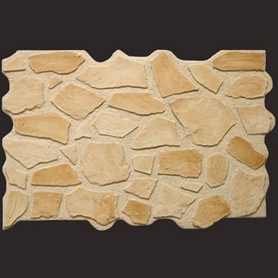 Piedra colore arena panel de poliuretano