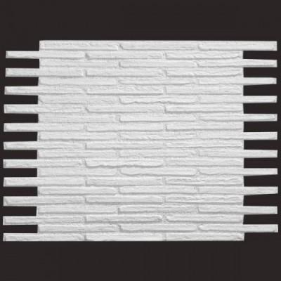 Ladrillo Aldaia blanco 9016 panel de poliuretano