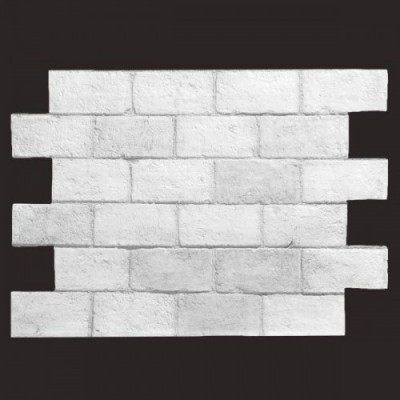 Ladrillo tosco BLANCO 9016 panel de poliuretano