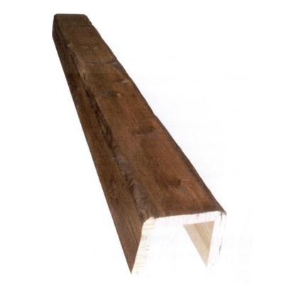 9,5 x 9,5 x 3,6 m Viga hueca de madera envejecida