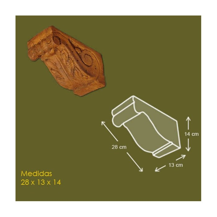 27,5 cm x 13 cm x 14 cm Mensula de poliuretano