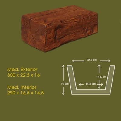 22,5 cm x 17,5 cm x 3 m Viga Rustica ref.1901