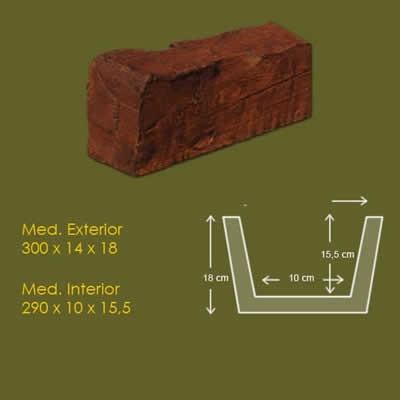15 cm x 18 cm x 3 m Viga Rustica ref.1905