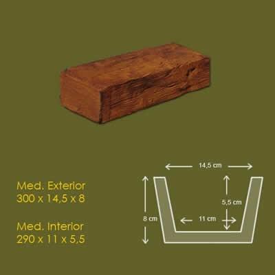 10 cm x 10 cm x 3 m Viga Rustica ref.1915