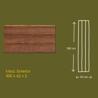 Panel de imitacion a madera de 3 lamas