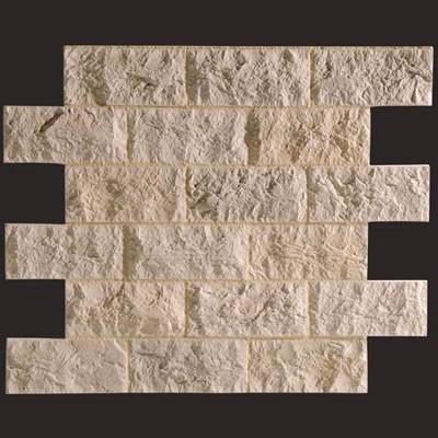 Piedra Travertino blanco panel de poliuretano