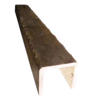 14,5 x 14,5 x 3 m Viga hueca de madera envejecida