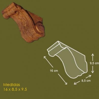 16 cm x 8,5 cm x 9,5 cm Mensula de poliuretano