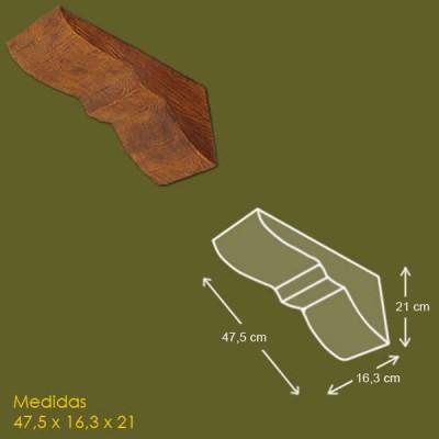 47,5 cm x 16,3 cm x 21 cm Mensula de poliuretano